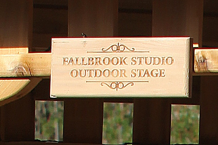 Stage plaque